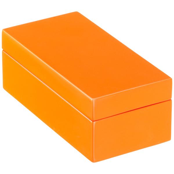 X-Small Lacquered Rectangular Box Orange