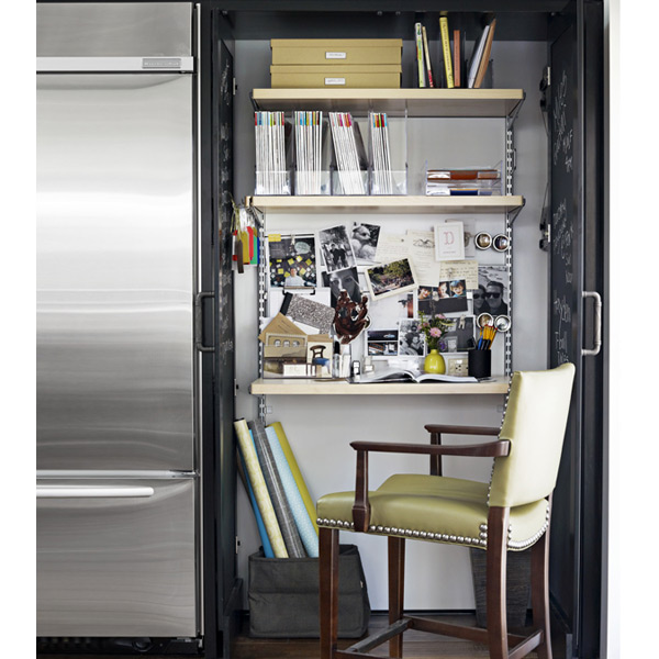 Birch platinum elfa d cor home office area the container store - Container store home office ...
