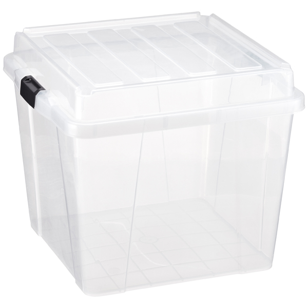 25 gal. Square Storage Box Clear