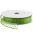 Sheer Wired Ribbon Pin Dot Lime