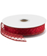 Sheer Wired Ribbon Pin Dot Red