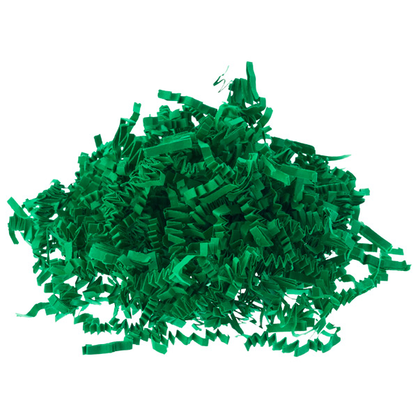 3 oz. Crinkle Cut Paper Shred Green