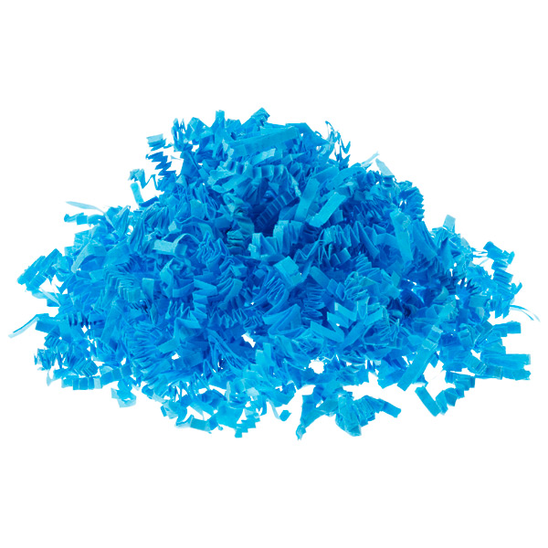 3 oz. Crinkle Cut Paper Shred Blue