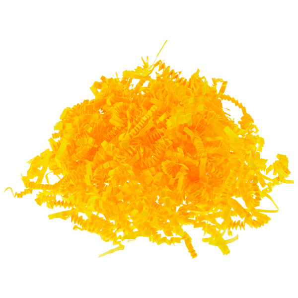 3 oz. Crinkle Cut Paper Shred Yellow
