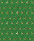 Wrap Foil Reindeer w/ Garlands Green
