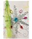 Gift Enclosure Jeweled Snowflake Pkg/3