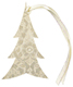 Gift Tags Glitter Tree Ivory Pkg/4