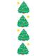 Stickers C-Mas Trees Sparkle Pkg/2 shts
