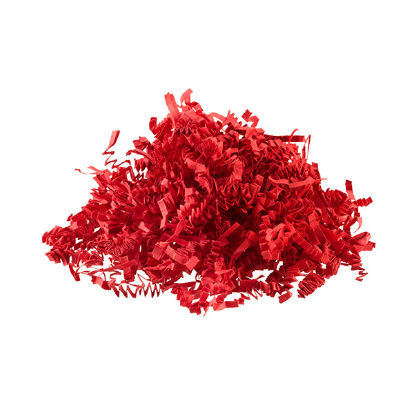 3 oz. Crinkle Cut Paper Shred Red