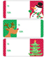 Adhesive To & From Gift Labels Snowflake Friends Pkg/36