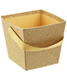 Small Square Glitter Pail Gold
