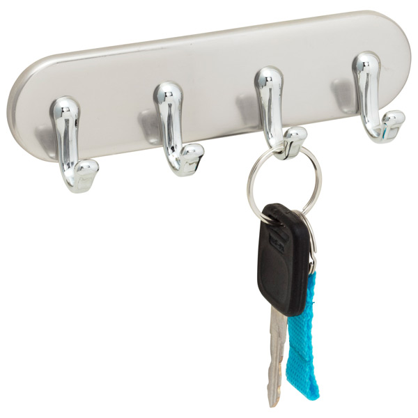 York Magnetic Key Rack Brushed SS/Chrome