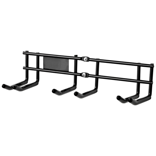 Double Ski Rack Black