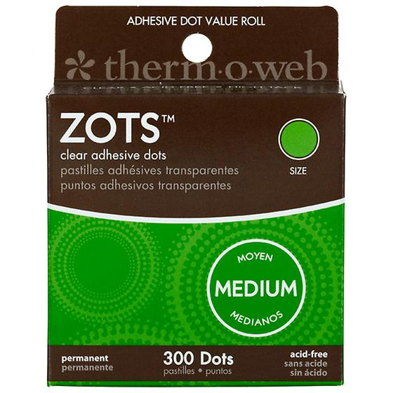 Zots Archival Adhesive Flat Dots