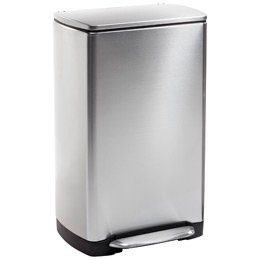 simplehuman 10 gal. Rectangular Wide-Step Can