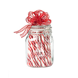Snowman Hermetic Jar Peppermint Gift