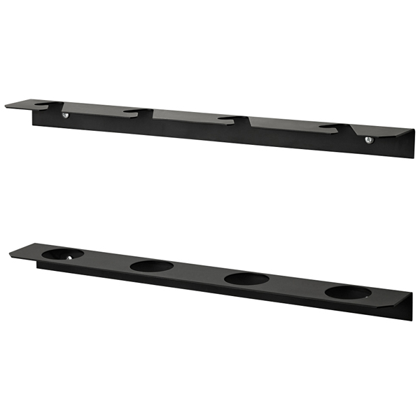 Fishing Rod Rack Black