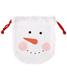 Medium Cotton Sack Snowman Face White