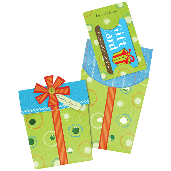Present Gift Card Holder Green