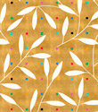 Gold Leaves Gift Wrap