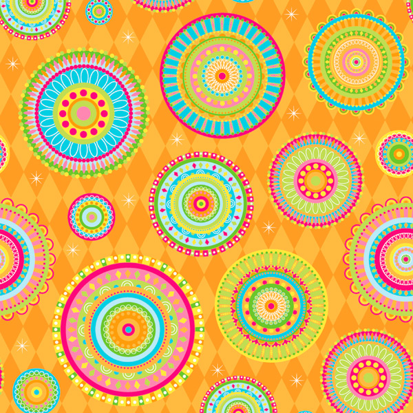 Wrap Happy Go Round Circles Orange