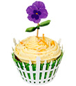 Pretty Pansies Cupcake Kit