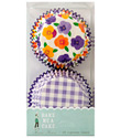 Pansies & Gingham Cupcake Liners