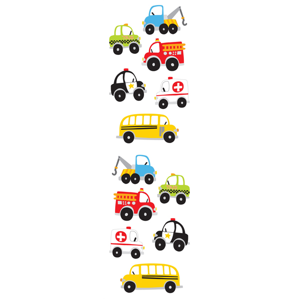 Sticker Sheets Work Vehicles Pkg/3