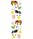 Sticker Sheets Farm Animals Pkg/3
