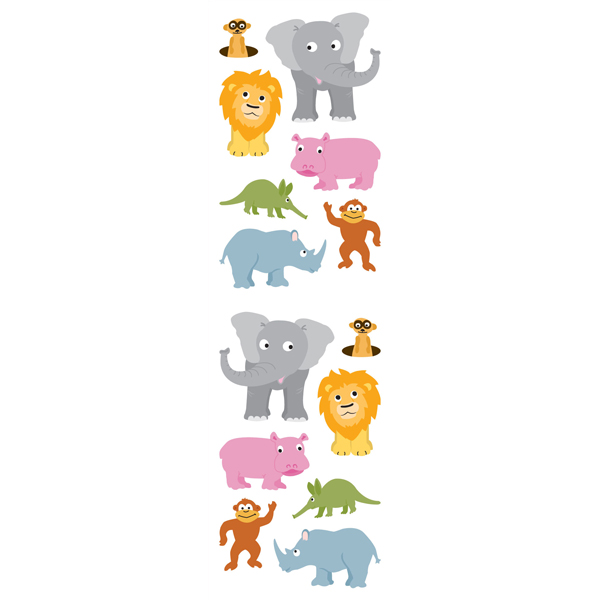 Jungle Animal Stickers