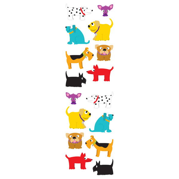 Sticker Sheets Chubby Dogs Pkg/3