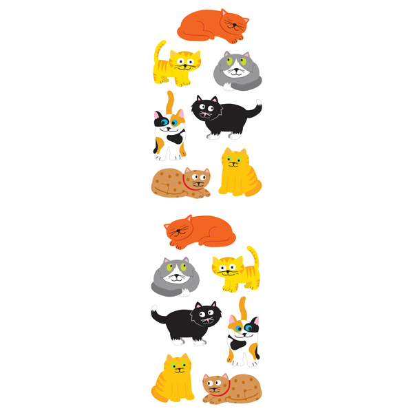 Sticker Sheets Chubby Cats Pkg/3