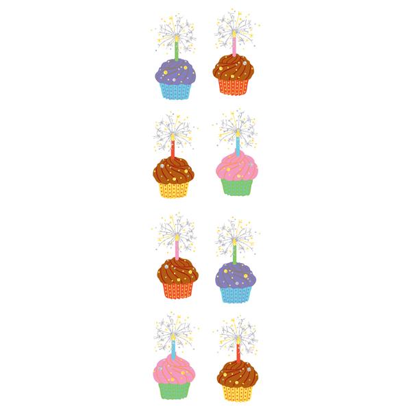 Sticker Sheets Sparkle Cupcakes Pkg/2