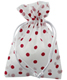 Flocked Dots Sheer Sack Red