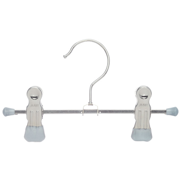 Mini Accessory Hanger with Clips Silver