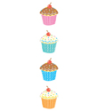 Sparkle Cupcake Stickers