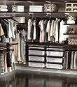 Walnut & White elfa d&eacute;cor Master Walk-In Closet