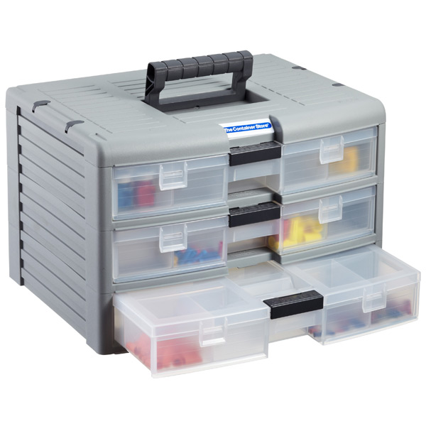 3-Case Storage Chest Grey