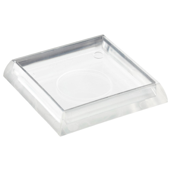 Caster Cups Clear Pkg/4