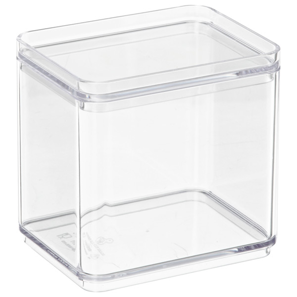 Deep Mini Stackable Rectangle Clear