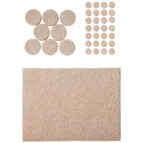 Assorted Heavy Duty Felt Pads Natural Pkg/102