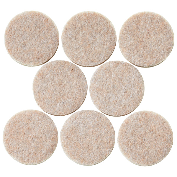 Heavy Duty Felt Pads Natural Pkg/16