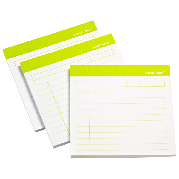 Memo Adhesive Notes Lime Pkg/3