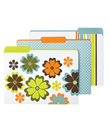 Tranquility Letter-Size Interior File Folders
