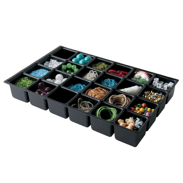 Bisley 24-Compartment Deep Drawer Insert Black