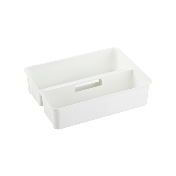 Smart Store Handled Tray White