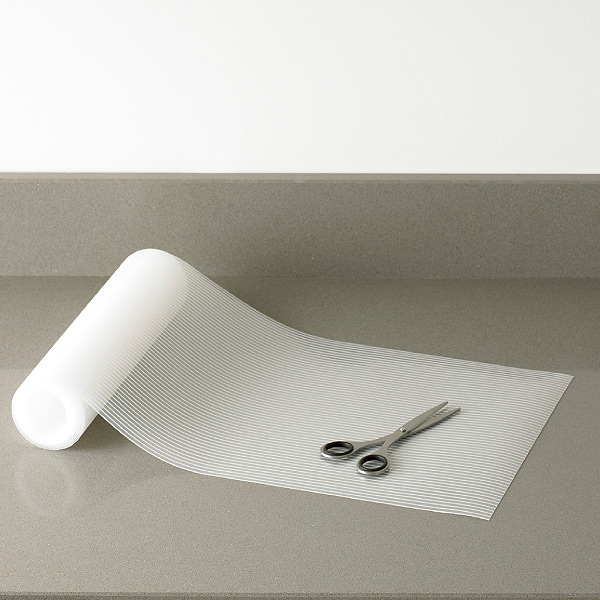 Kitchen Cabinet Mats: Clear Plast-O-Mat Ribbed Shelf Liner