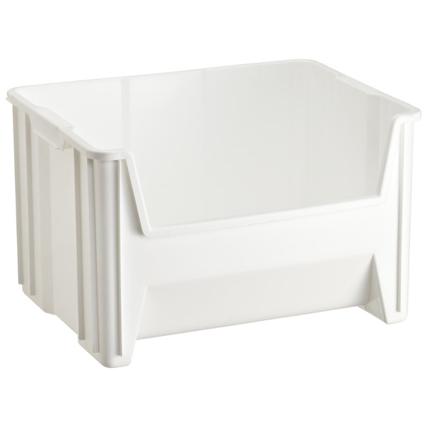 White Stacking Recycling Bin