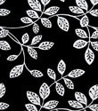 White Leaves on Black Gift Wrap