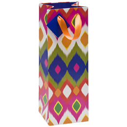 Ikat Diamonds Bottle Tote